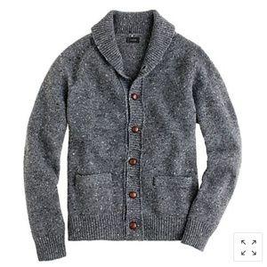JCrew Donegal Cardigan wool Blend  Sweater Size Xl